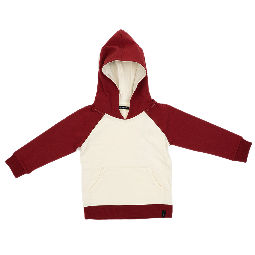 Kid's Mini Hoodie in Burgundy
