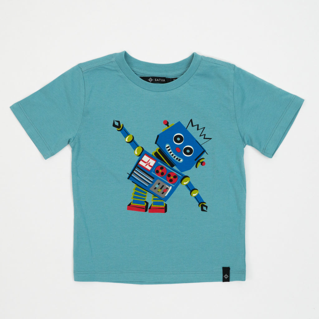 Kid's Graphic Tee in Pool