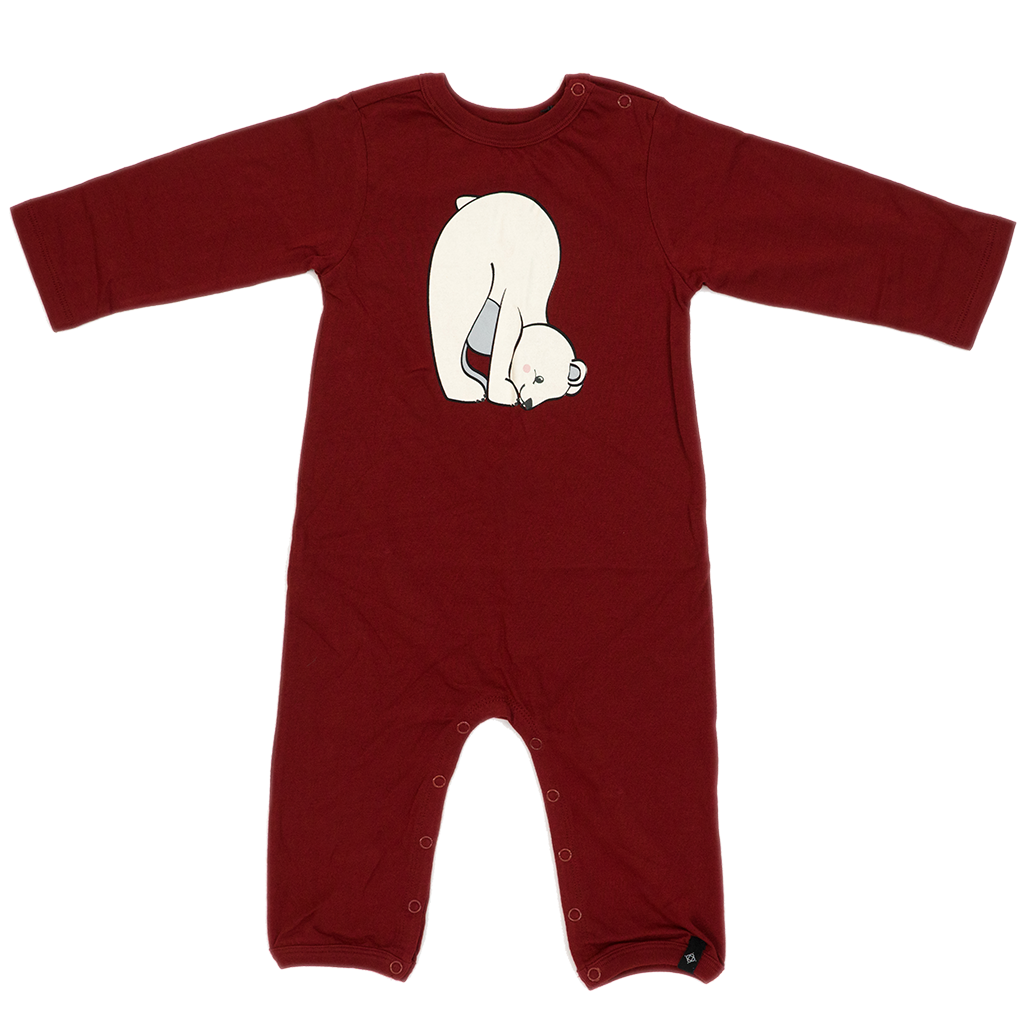Toddler Romper in Burgundy