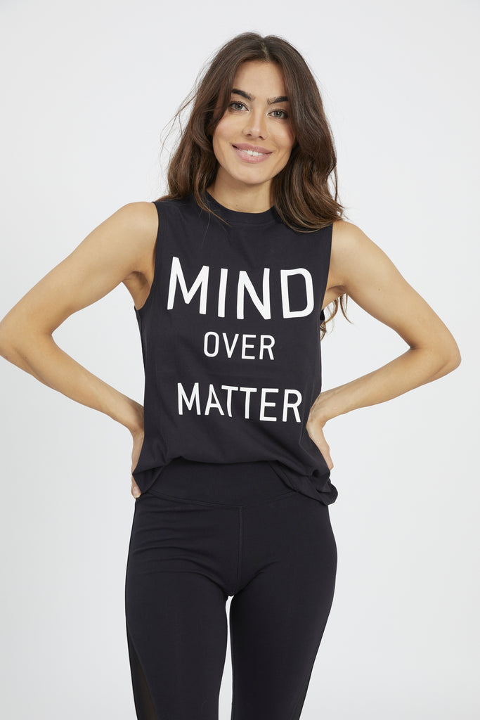 MIND OVER MATTER TANK BLACK