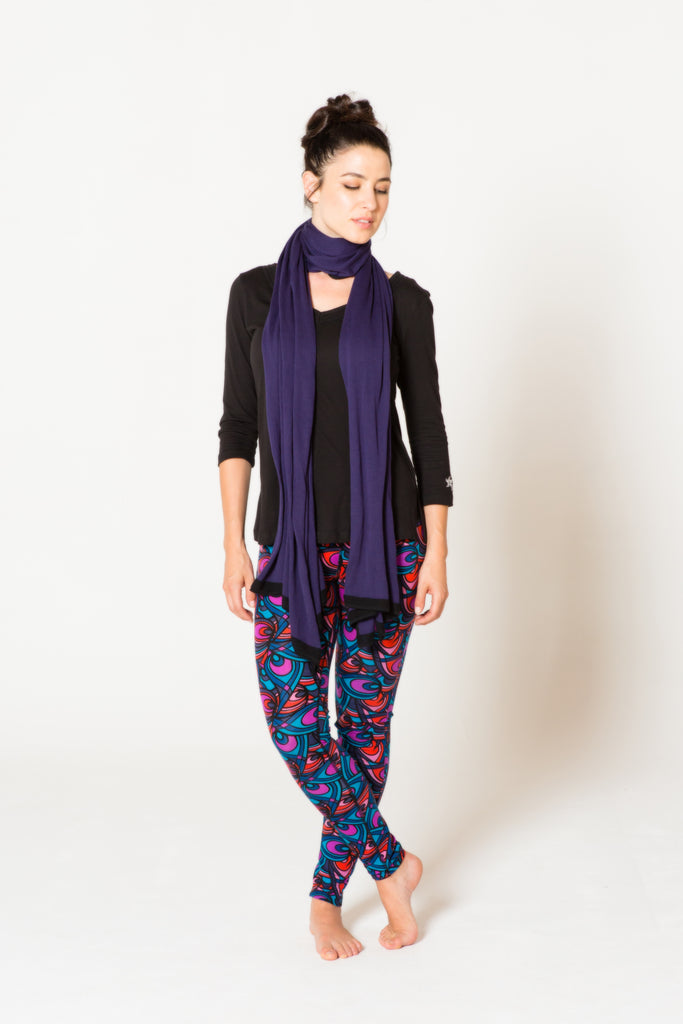 Om Colorblock Scarf in Purple