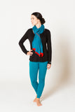 Om Colorblock Scarf in Blue