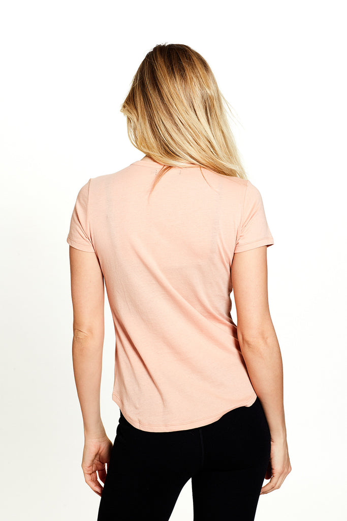 Opal Tee in Apricot