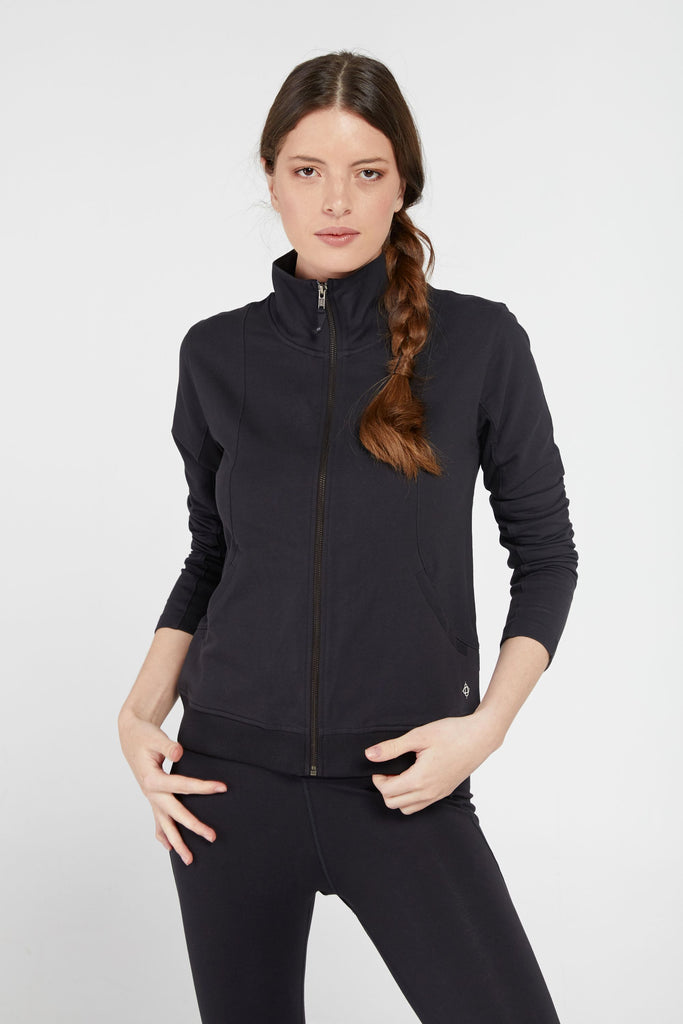 PRESENCE CURVE SEAM JACKET IN BLACK