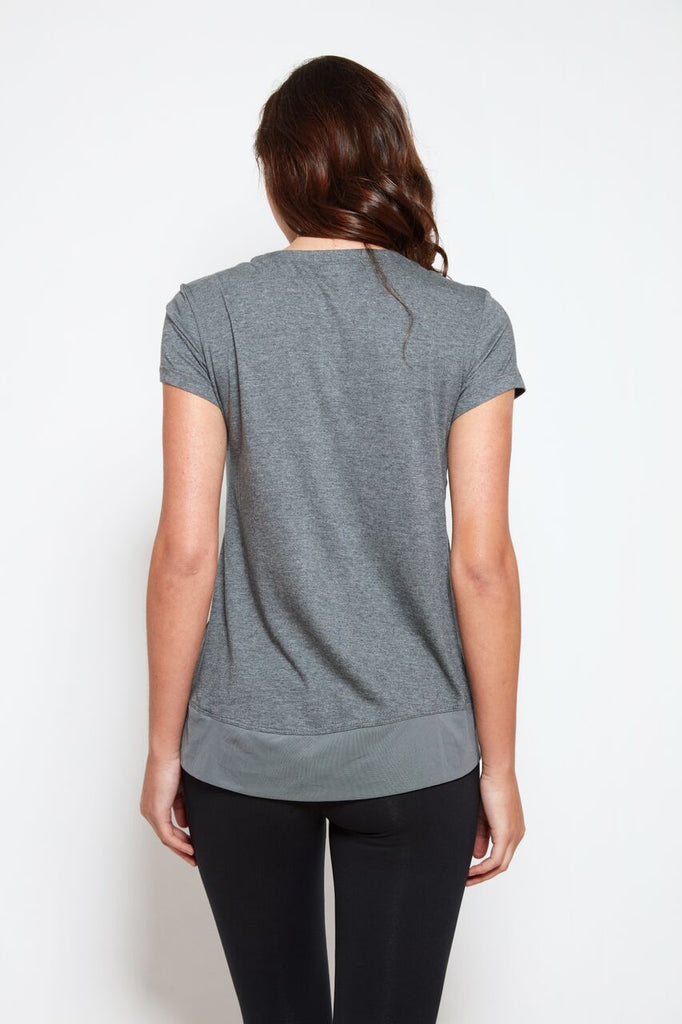 Padma Tee in Steel Heather