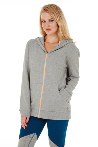 FLUORITE HOODIE HEATHER GREY