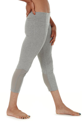 AMETHYST HIGH WAIST CAPRI HEATHER GREY