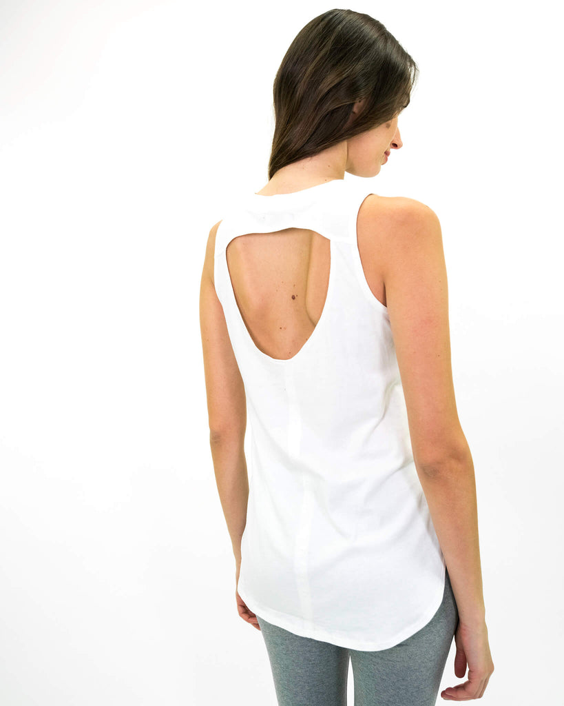 Satya Tank in White