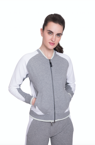 ATMAN BOMBER JACKET HEATHER GREY