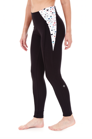 Organic Cotton Womens Active Yoga Pants Leggings with Hidden Pocket from Satva HATHA LEGGING