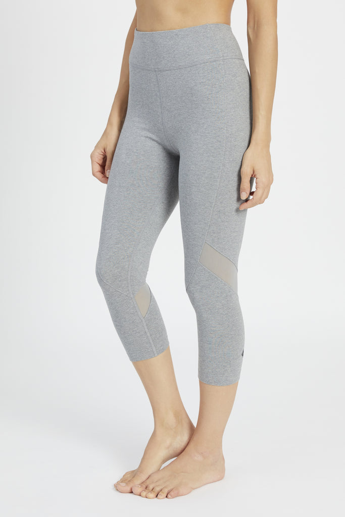 TALIKA HIGH WAIST CAPRI HEATHER GREY