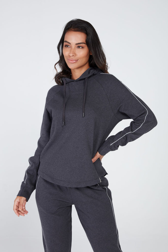 PARAMA HOODIE IN CHARCOAL