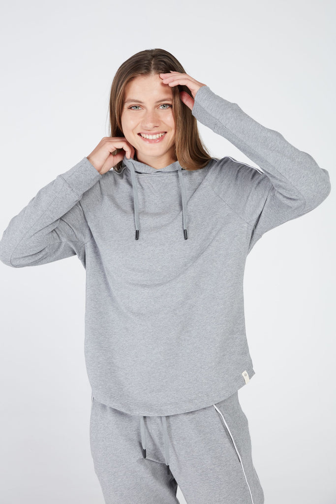 PARAMA HOODIE IN DOVE