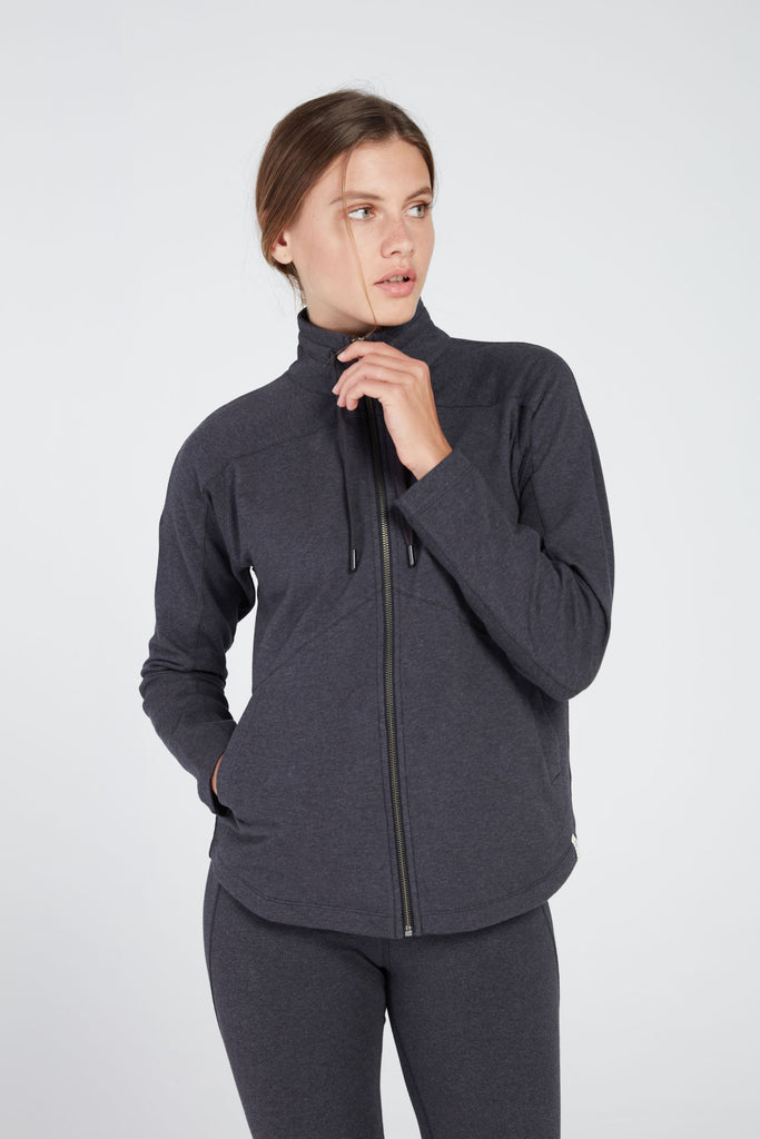 GIRI SEMI FITTED JACKET IN CHARCOAL