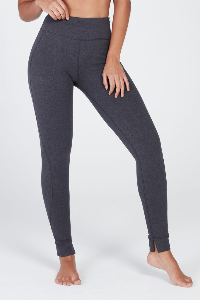 MANTRA MID-RISE LEGGING IN CHARCOAL