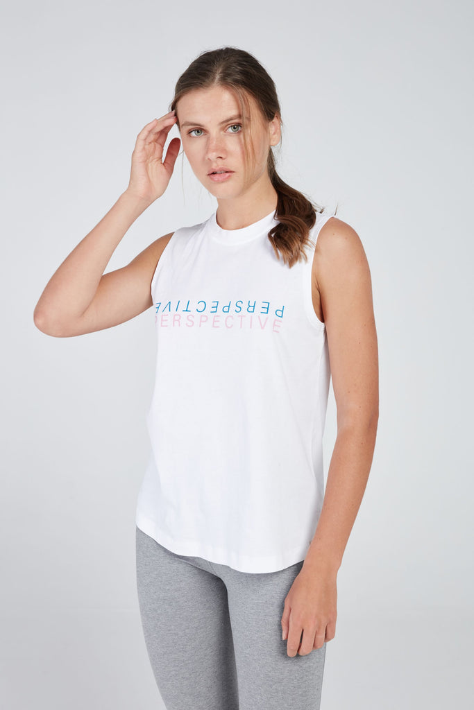 PERSPECTIVE TANK IN WHITE