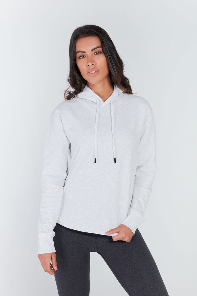 TRINITY EASY FIT HOODIE IN FEATHER