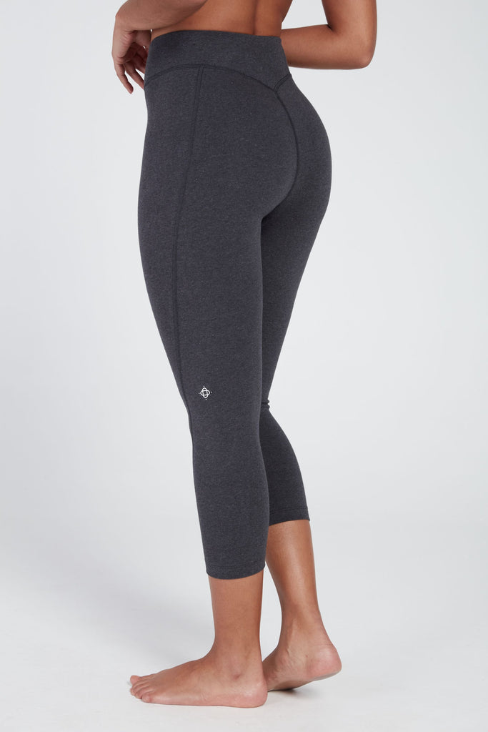 AFFINITY HIGH WAISTED CAPRI IN CHARCOAL