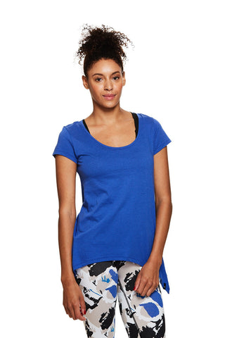 Yoga inspired Easy Tee in Iris | SATVA (front)