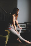 Tashi Legging in Heather Grey