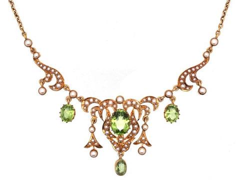 Edwardian Peridot Necklace