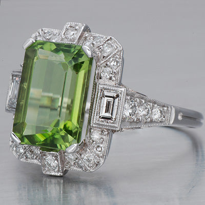 Art Deco Peridot Ring