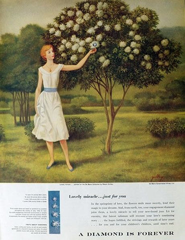 Early De Beers Diamond Ad