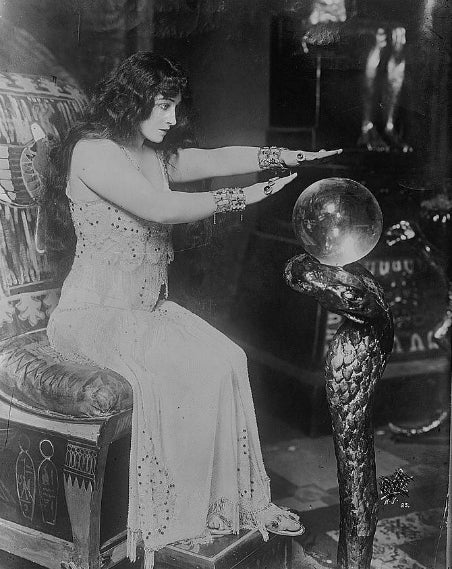Fortune Teller with Rock Crystal Ball