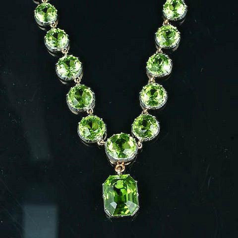 peridot rivier necklace