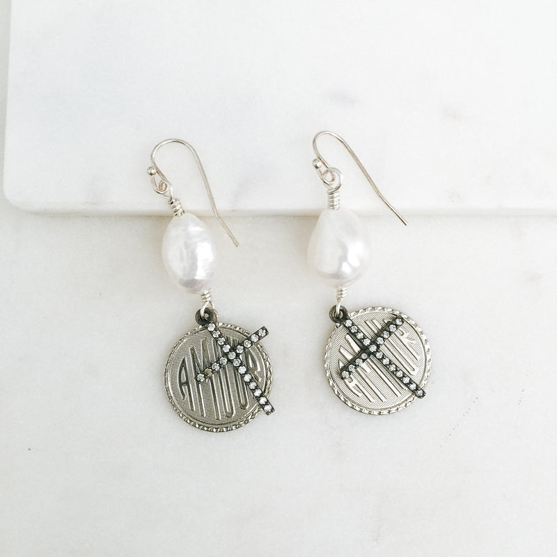 Amour Medallion Earrings