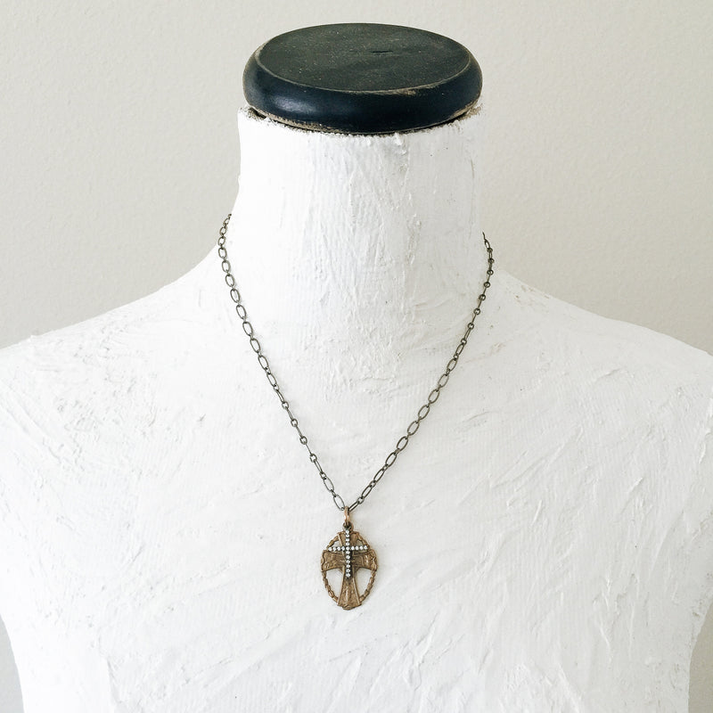 Celtic Double Cross Necklace
