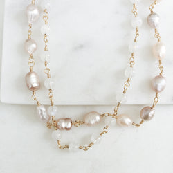 Freshwater Pearl and Moonstone Necklace
