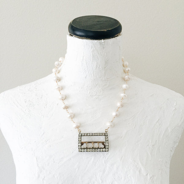 Georgian Buckle and Freshwater Pearl Necklace