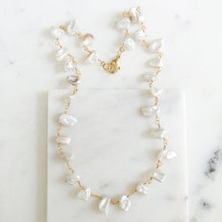 Freshwater Pearl Nugget Necklace