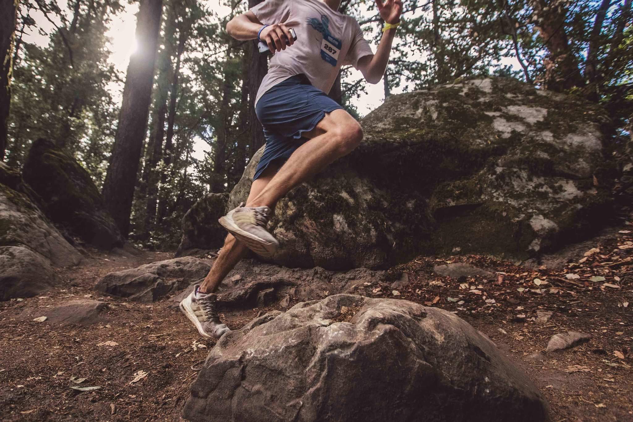 A Spartan Trail racer is able to race on the trail over rough terrain after preparing with exercises for IT band issues.