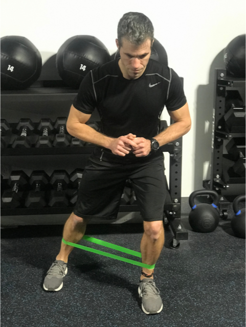 lateral band squat
