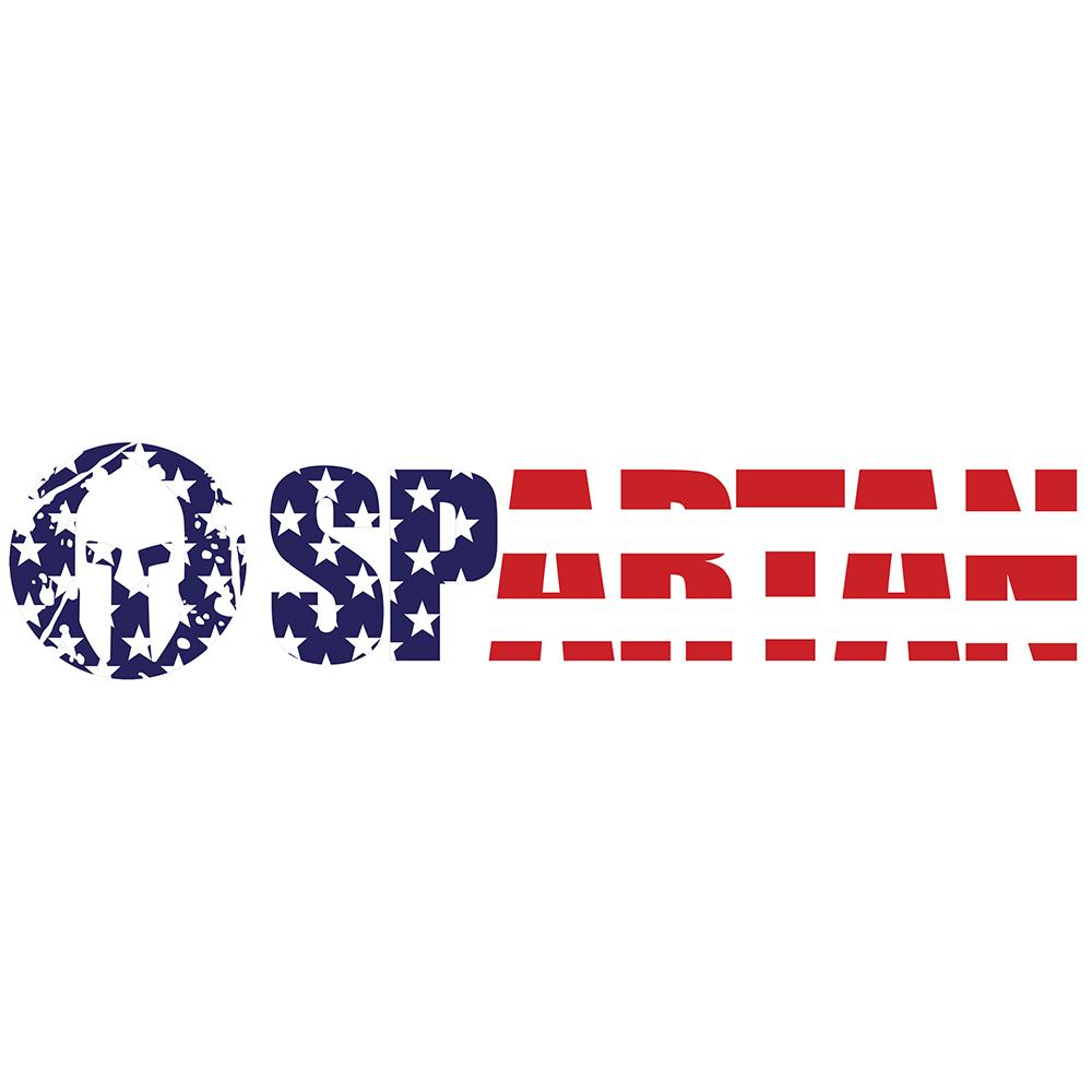 Spartan Race Shop SPARTAN Classic USA Vinyl Sticker