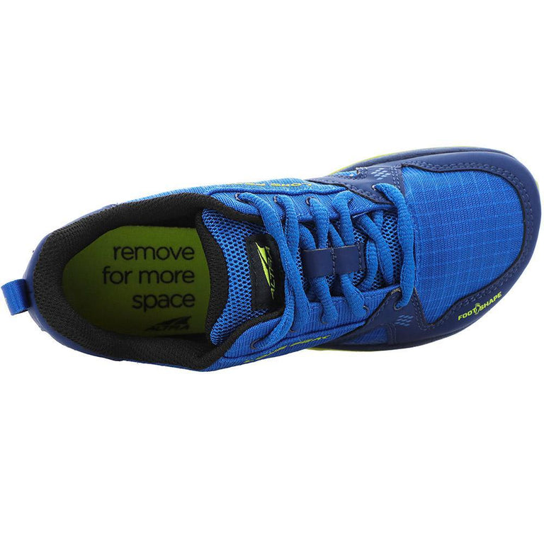 Altra Altra Lone Peak Trail Shoe - Youth Blue/Lime 1