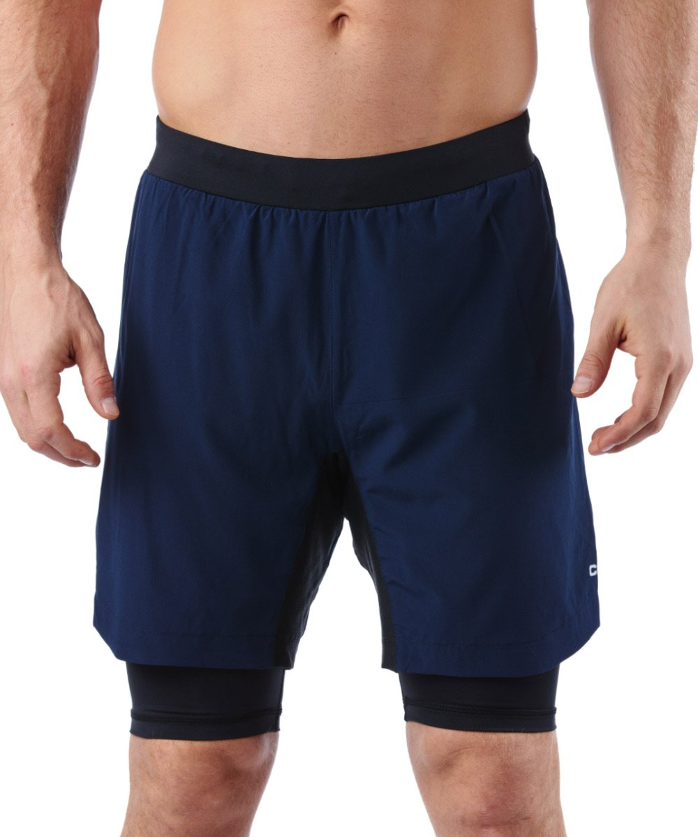 CRAFT SPARTAN By CRAFT Pro Series 2-in-1 Short - Men's Blaze S