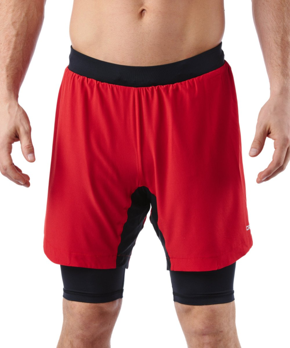CRAFT SPARTAN By CRAFT Pro Series 2-in-1 Short - Men's Red S
