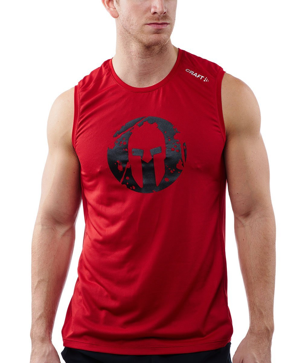 CRAFT SPARTAN By CRAFT Pro Series Grit Tank - Men's Red S