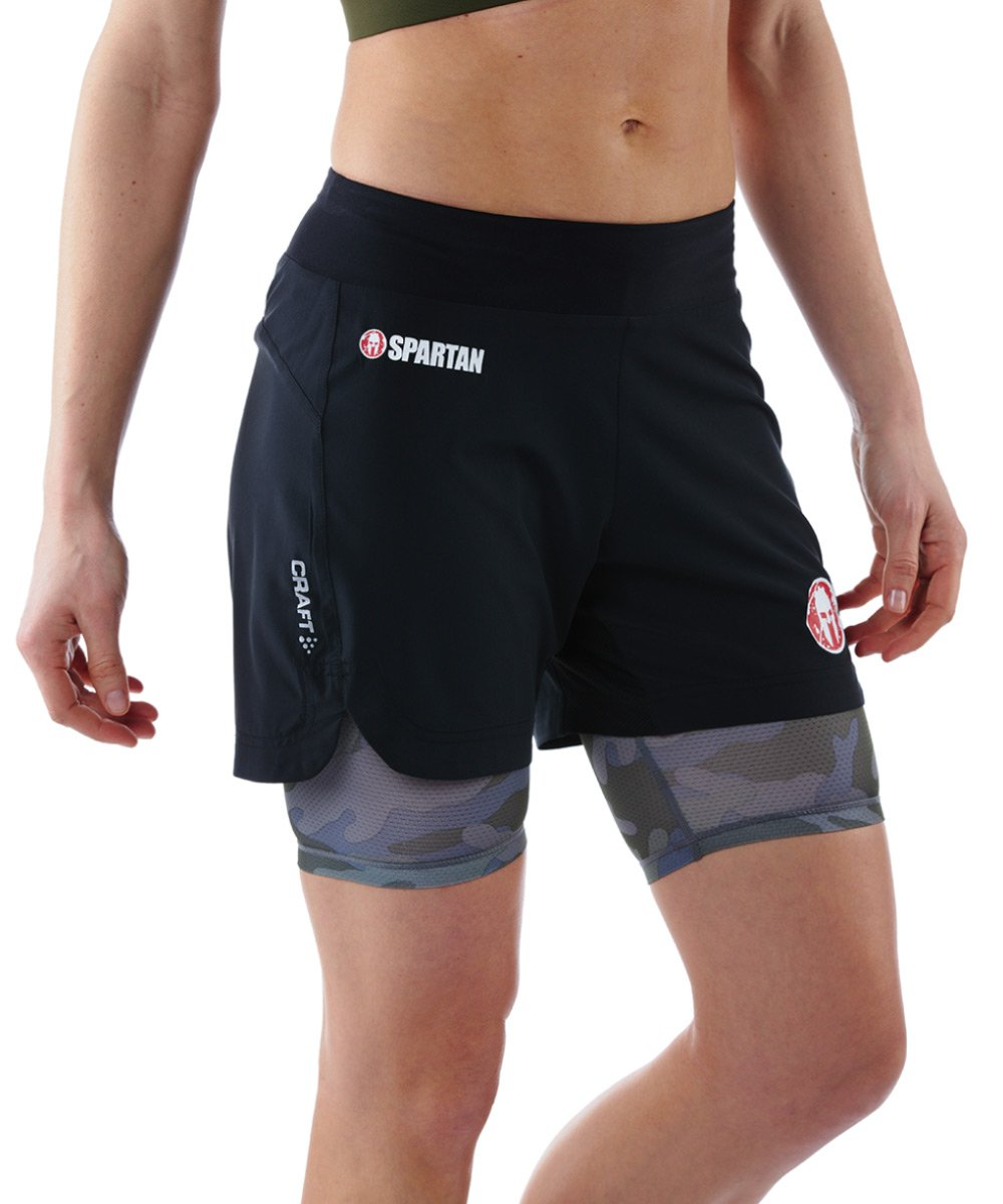 CRAFT SPARTAN By CRAFT Pro Series 2-in-1 Short - Women's Black/Camo XS