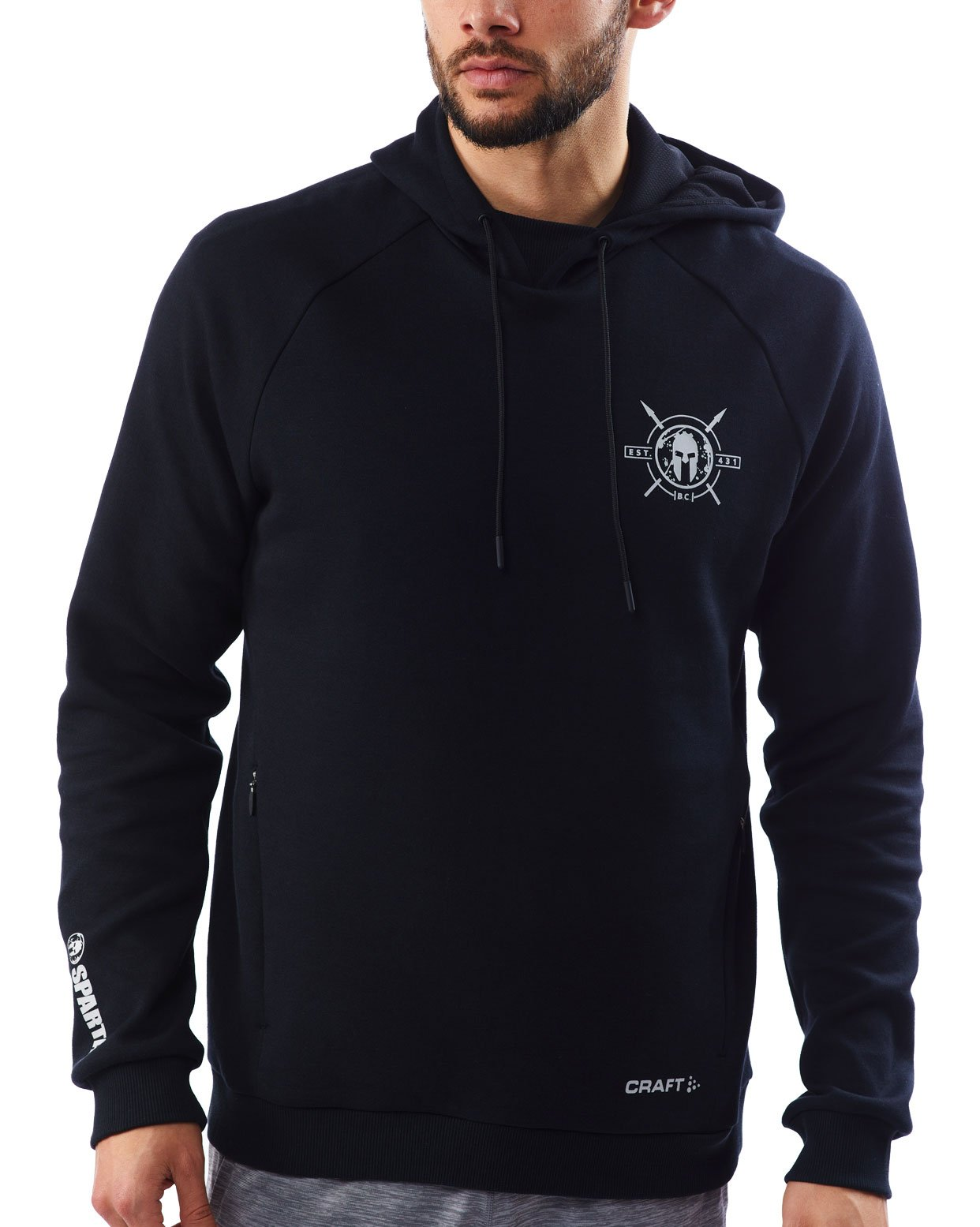 CRAFT SPARTAN By CRAFT District Pullover Hoodie - Men's Black S
