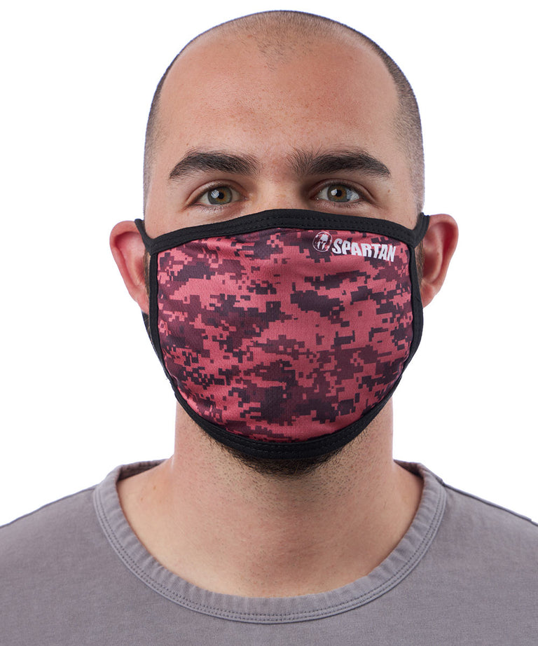 Spartan Race Shop SPARTAN Face Mask Camo Pink