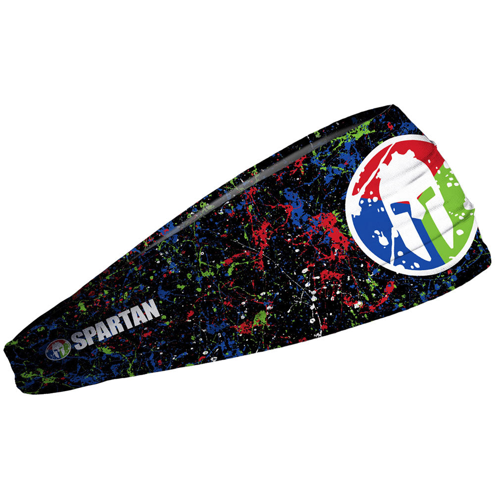 JUNK SPARTAN JUNK Headband - Splatter Black Trifecta Splatter Black