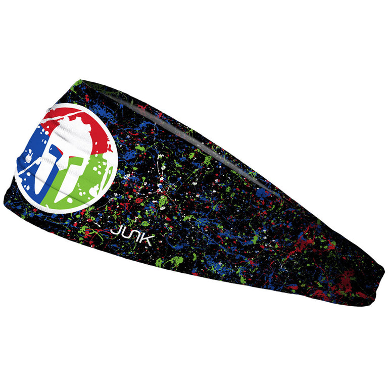 SPARTAN JUNK Headband - Splatter Black Trifecta