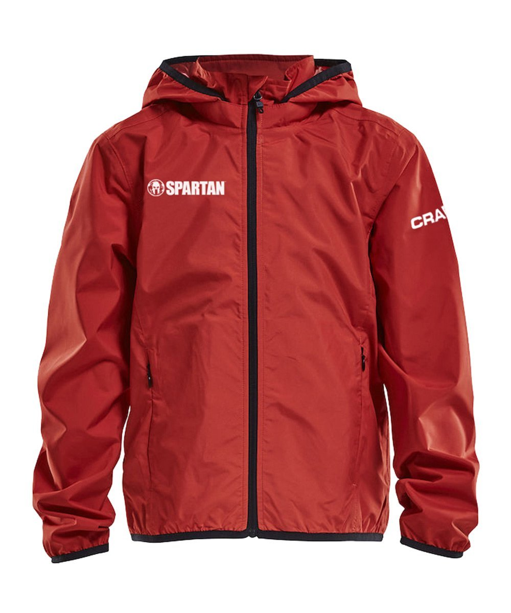 CRAFT SPARTAN By CRAFT Rain Jacket - Juniors Red S