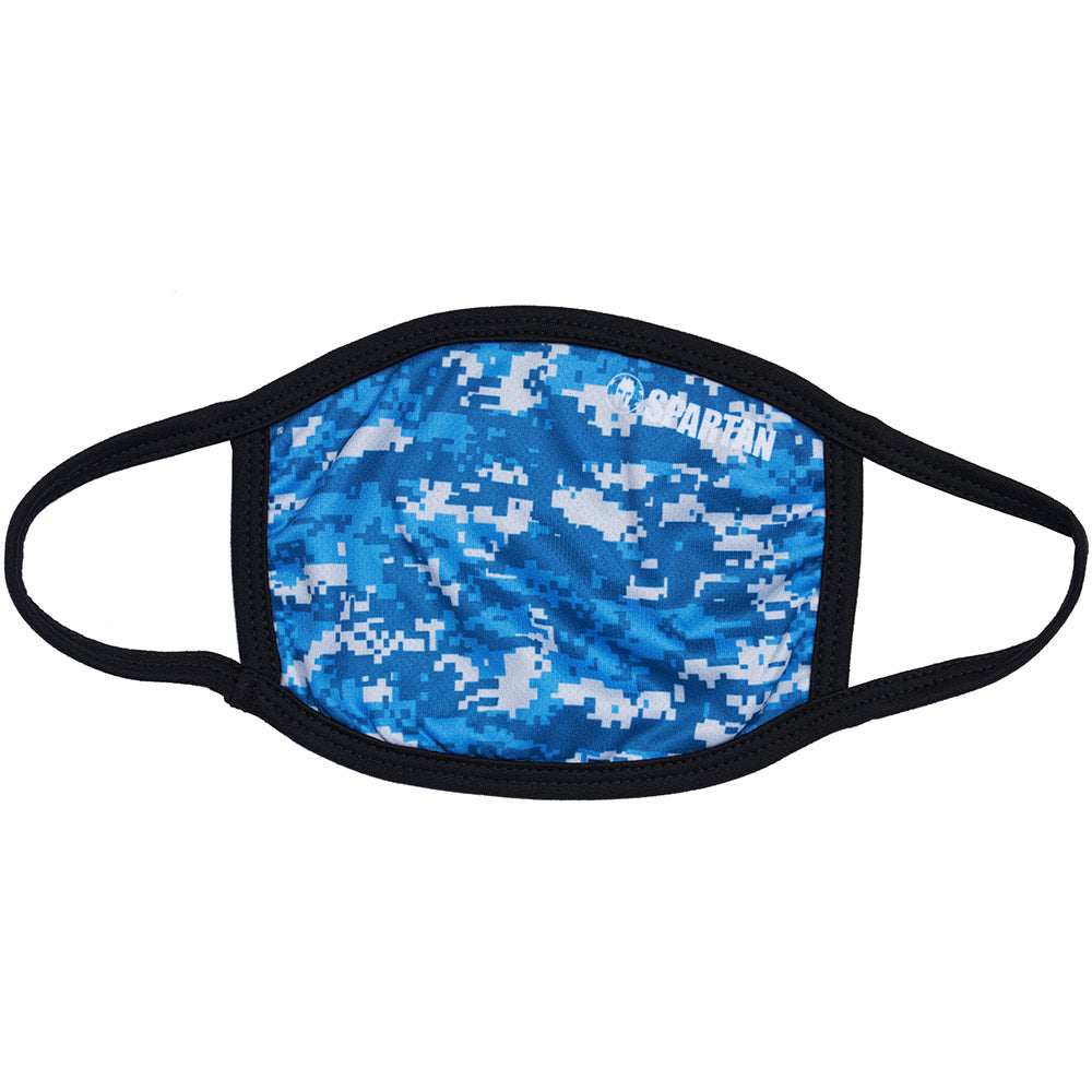 Spartan Race Shop SPARTAN Face Mask Camo Blue