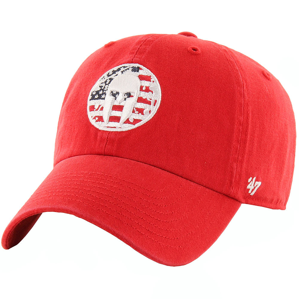 47 Brand SPARTAN '47 OHT Flag Fill Clean Up Hat - Unisex Red