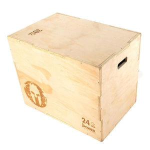 Power Systems SPARTAN 3-in-1 Wooden Plyo Box